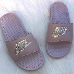 CUSTOM Rhinestone Nike Slides